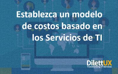Establezca un modelo de costos basado en servicios